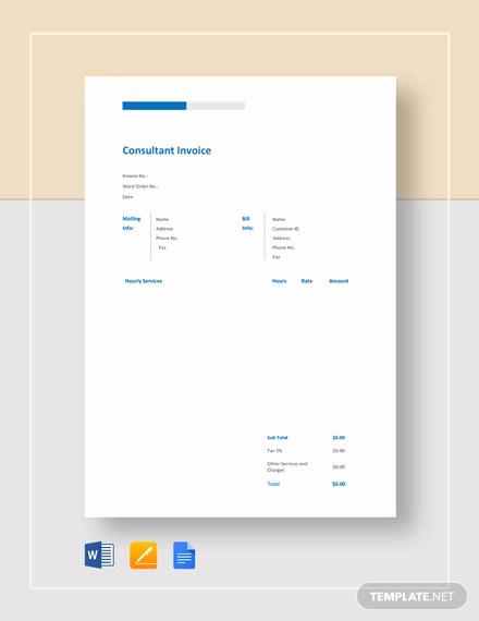 Consultant Invoice Template Excel Unique 10 Consulting Consultant Invoice Templates Docs Pdf