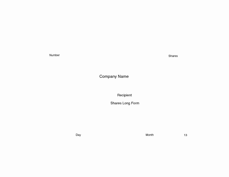Corporate Stock Certificate Template Beautiful Stock Certificate Template Free In Word and Pdf