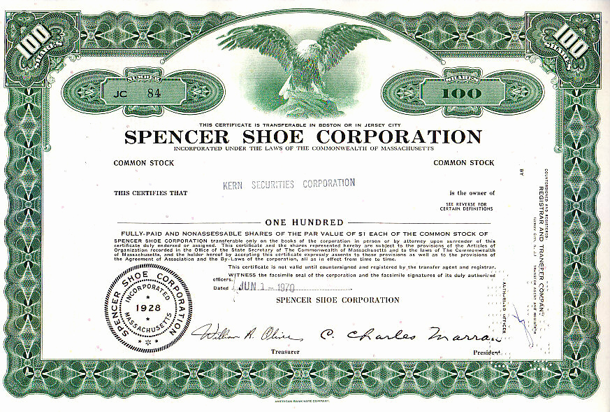 Corporate Stock Certificate Template Inspirational Broker Owned Stock Certificate Kern Securities