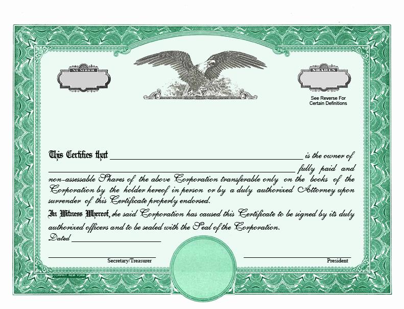 Corporate Stock Certificate Template Inspirational Stock Certificate Designs