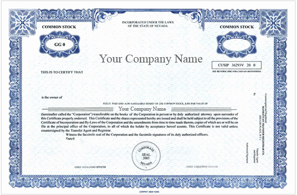 Corporate Stock Certificate Template Lovely Special order Certificates Special order Certificate Package