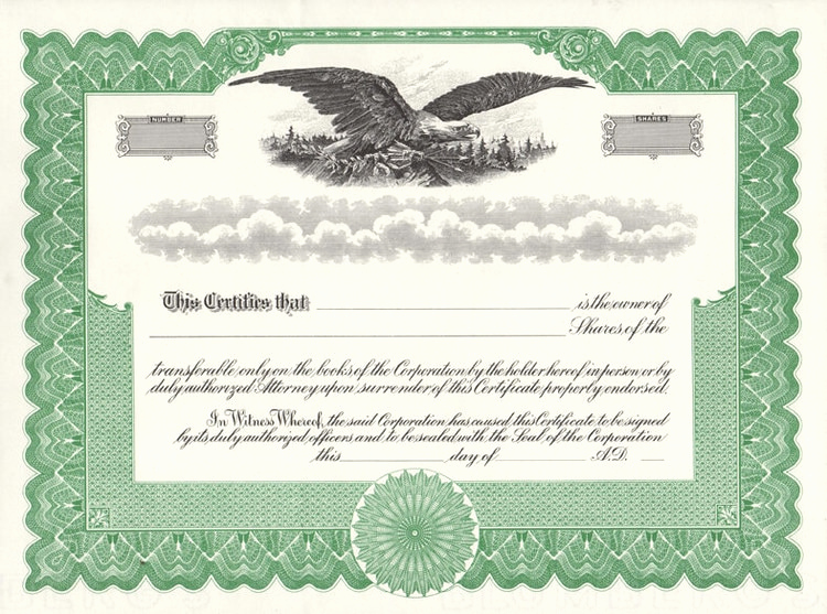 Corporate Stock Certificate Template Unique Stock Certificates Free Shipping Exhibitindexes