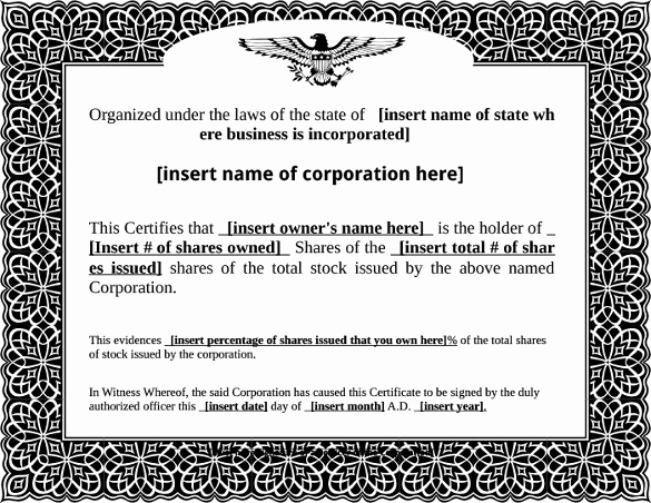 Corporate Stock Certificate Template Word Best Of 22 Stock Certificate Templates Word Psd Ai Publisher
