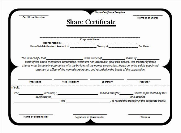 Corporate Stock Certificate Template Word Elegant 24 Stock Certificate Templates Psd Vector Eps