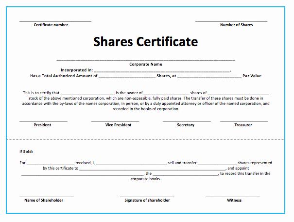 Corporate Stock Certificate Template Word Fresh Stock S Certificate Template Microsoft Word Templates