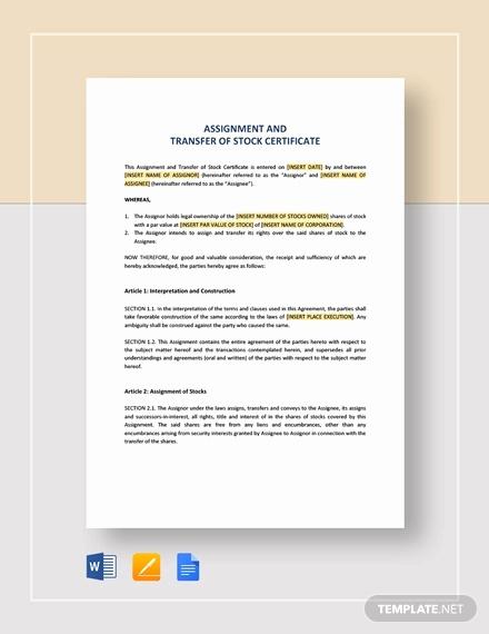 Corporate Stock Certificate Template Word Luxury 22 Stock Certificate Templates Word Psd Ai Publisher