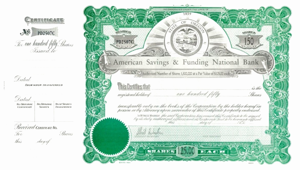 Corporate Stock Certificates Template Free Awesome Corporate Stock Certificate Template