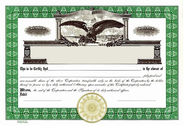 Corporate Stock Certificates Template Free Awesome Free Stock Certificate Template Free Printable Documents