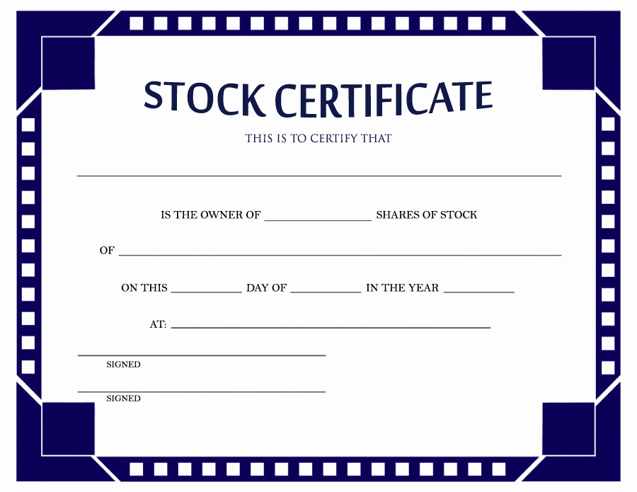 Corporate Stock Certificates Template Free Luxury 40 Free Stock Certificate Templates Word Pdf Templatelab