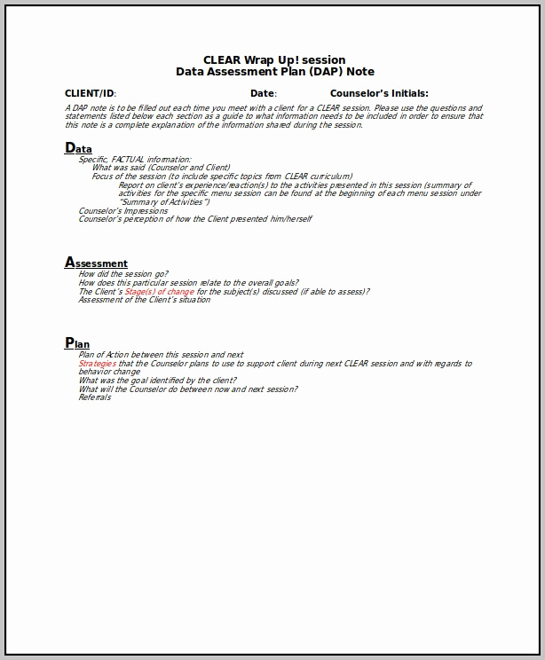 Counseling Case Notes Template Fresh Dap Notes Example – Laustereo