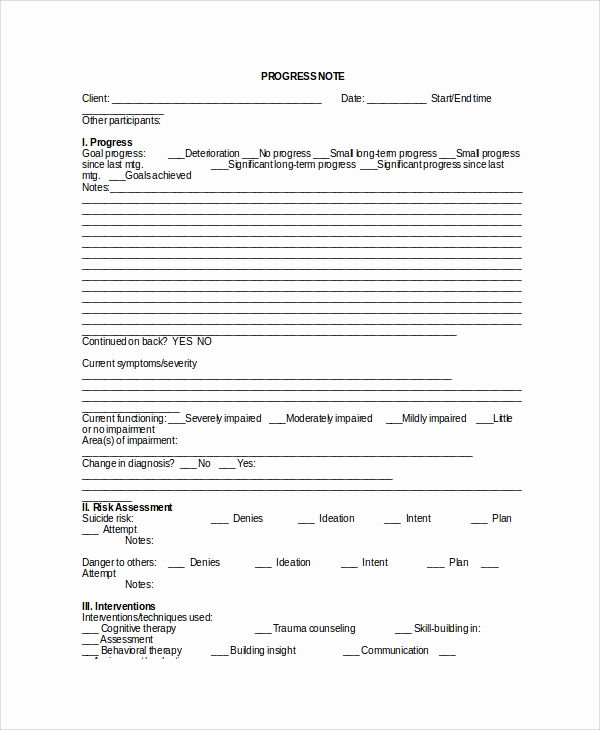 Counseling Session Notes Template Fresh Sample therapy Note Template 5 Free Documents Download