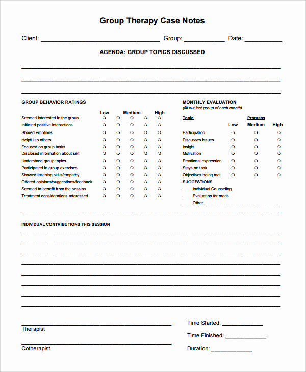 Counseling Session Notes Template Luxury Psychotherapy Progress Note Template Pdf