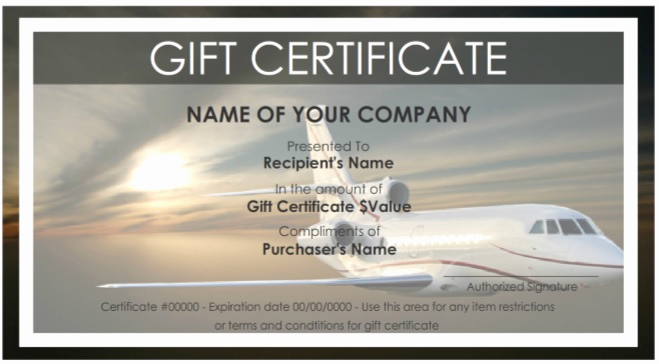Cruise Gift Certificate Template Best Of Aeoraplane Travel Gift Certificate Pdf Free Download 9