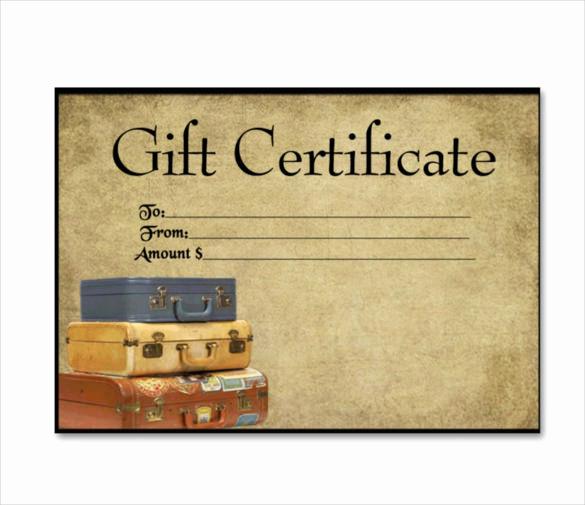 Cruise Gift Certificate Template Elegant 11 Travel Gift Certificate Templates Free Sample