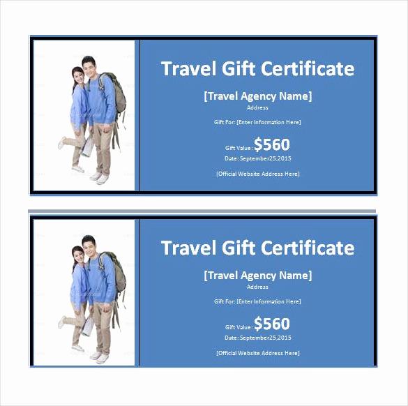 Cruise Gift Certificate Template Elegant 9 Travel Gift Certificate Templates Doc Pdf Psd