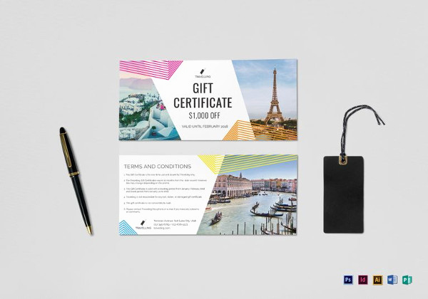 Cruise Gift Certificate Template Fresh 9 Travel Gift Certificate Templates Doc Pdf Psd
