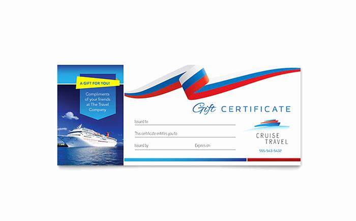 Cruise Gift Certificate Template Fresh Cruise Travel Gift Certificate Template Design