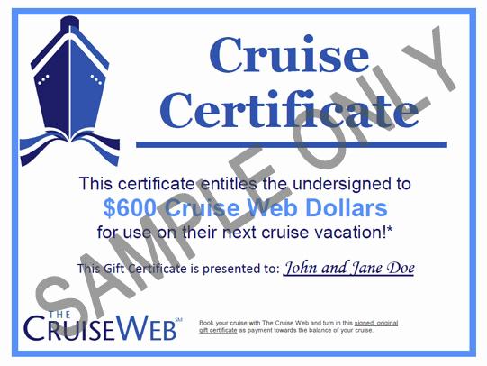 Cruise Gift Certificate Template Fresh Cruise Web Gift Certificates Cruise Gift Cards