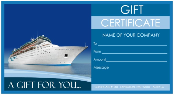 Cruise Gift Certificate Template Inspirational 9 Free Sample tourism Gift Certificate Templates