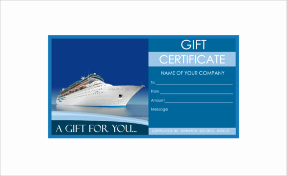 Cruise Gift Certificate Template Lovely 9 Travel Gift Certificate Templates Doc Pdf Psd