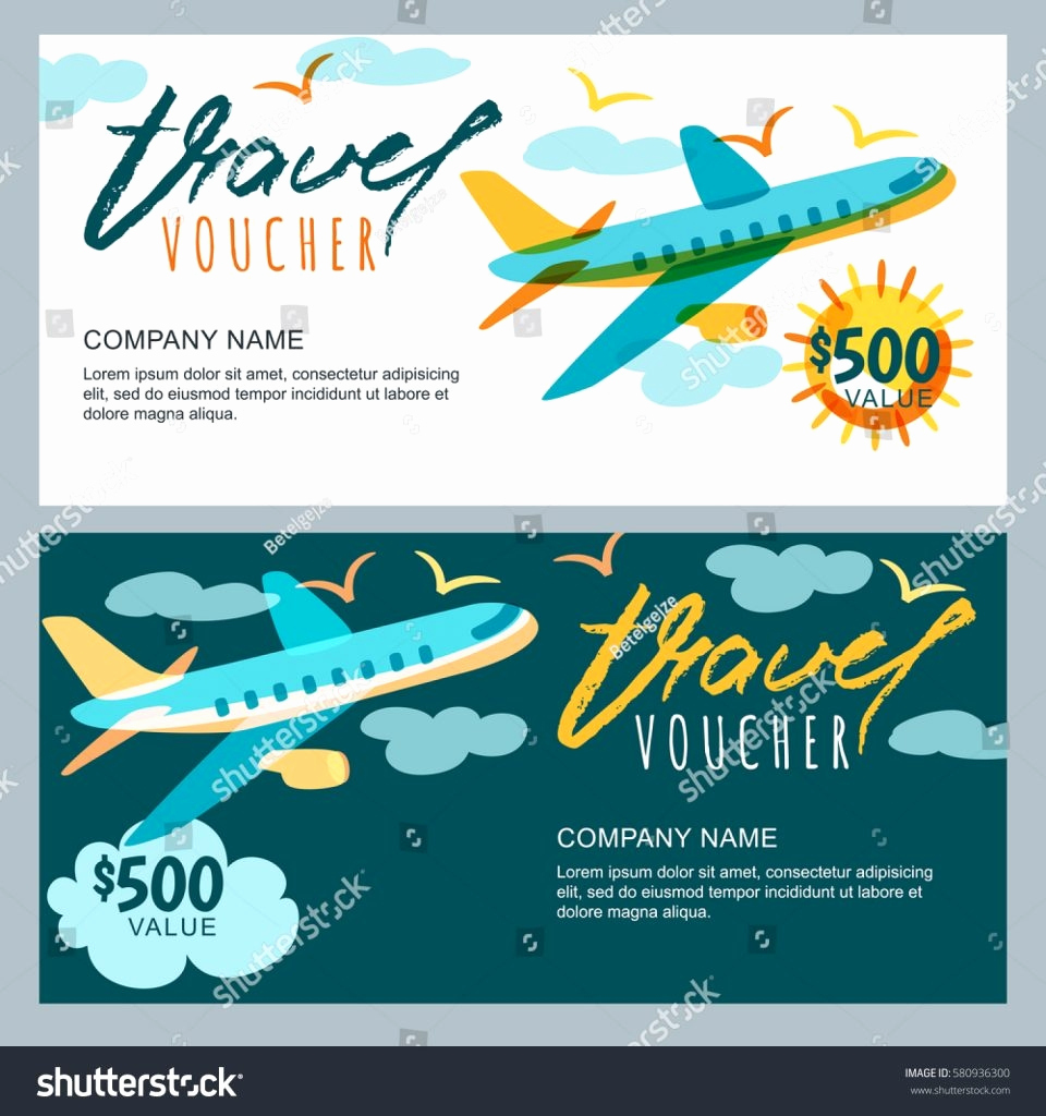 Cruise Gift Certificate Template New Printable Travel Voucher Template