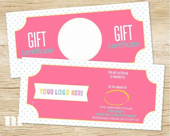 Custom Gift Certificate Template Best Of Gift Certificate for Small Business Gift Card Lula