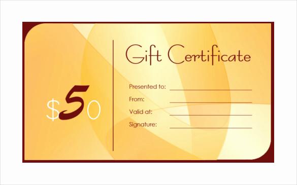 Custom Gift Certificate Template Elegant Business Gift Certificate Template 13 Free Word Pdf