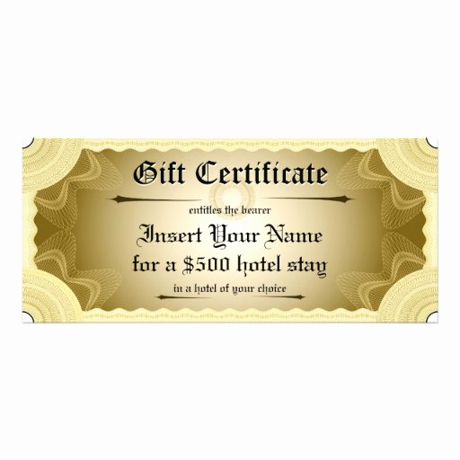 Custom Gift Certificate Template Free Fresh Gift Certificate Template Personalized Rack Card