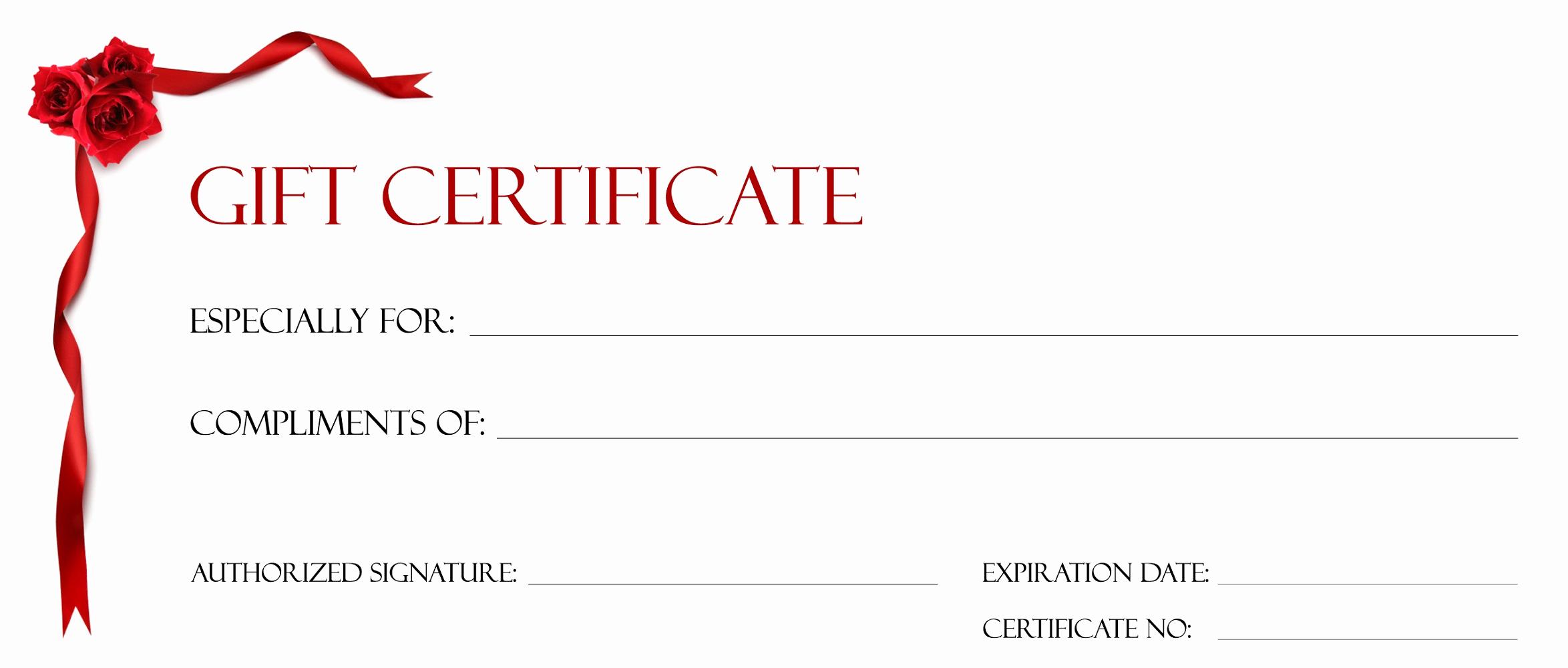 Custom Gift Certificate Template Free Fresh Gift Certificate Templates to Print