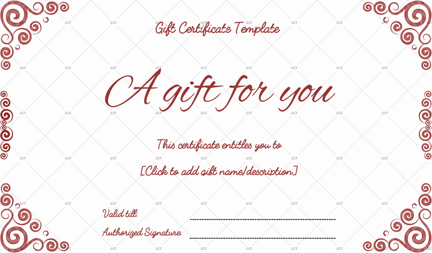 Custom Gift Certificate Template Free Fresh Sna Rounds Gift Certificate Template for Word