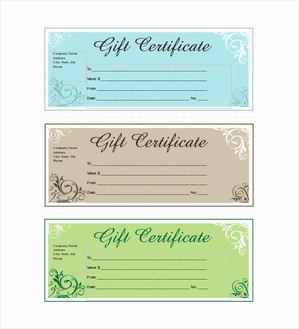 Custom Gift Certificate Template Free Inspirational 19 Business Gift Certificate Templates Word Psd Ai