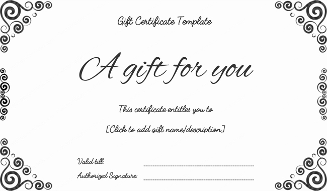 Custom Gift Certificate Template Free Unique Bussiness Gift Certificate Template T Certificate