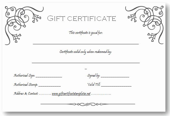 Custom Gift Certificate Template Inspirational Art Business T Certificate Template