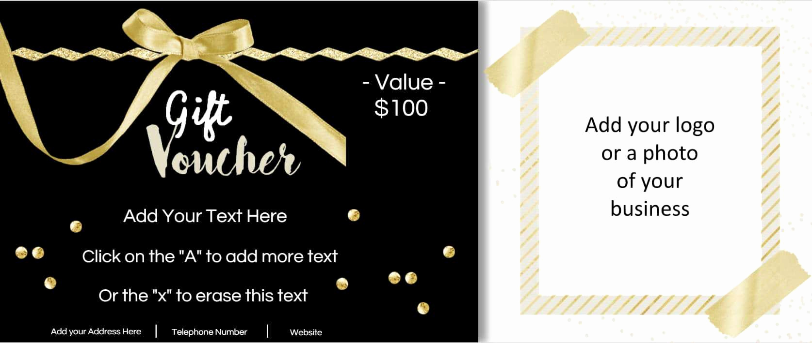 Custom Gift Certificate Template Inspirational Free Custom Birthday Coupons Customize Line & Print at
