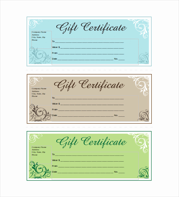 Custom Gift Certificate Template Luxury 19 Business Gift Certificate Templates Word Psd Ai