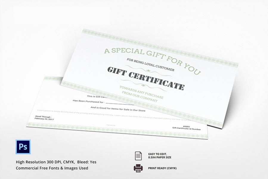 Custom Gift Certificate Template Luxury 7 Free Gift Certificate Spa Restaurant Travel