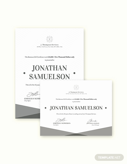 Custom Gift Certificate Template Unique Elegant Business Gift Certificate Templates Word