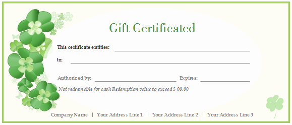Customizable Gift Certificate Template Awesome Free Gift Certificate Templates Customizable and Printable