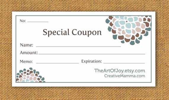 Customizable Gift Certificate Template Beautiful Items Similar to Printable Customizable Gift Certificate