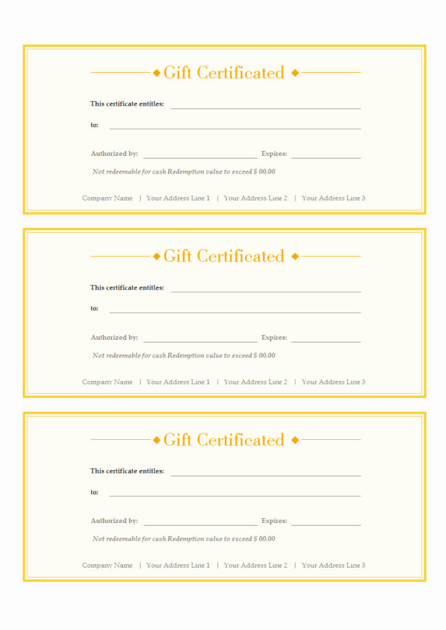 Customizable Gift Certificate Template Best Of A Free Customizable T Voucher Template is Provided to