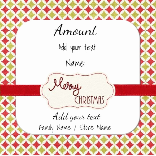 Customizable Gift Certificate Template Fresh 17 Best Images About Christmas Gift Certificates On