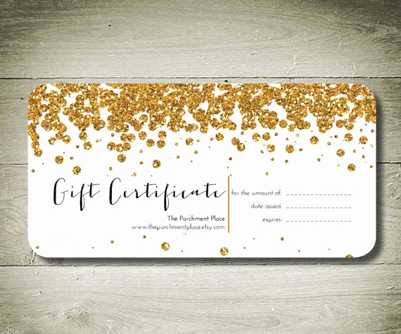 Customizable Gift Certificate Template Fresh All that Glitters Custom Personalised Gift by