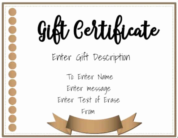 Customizable Gift Certificate Template Fresh Free Gift Certificate Template 50 Designs