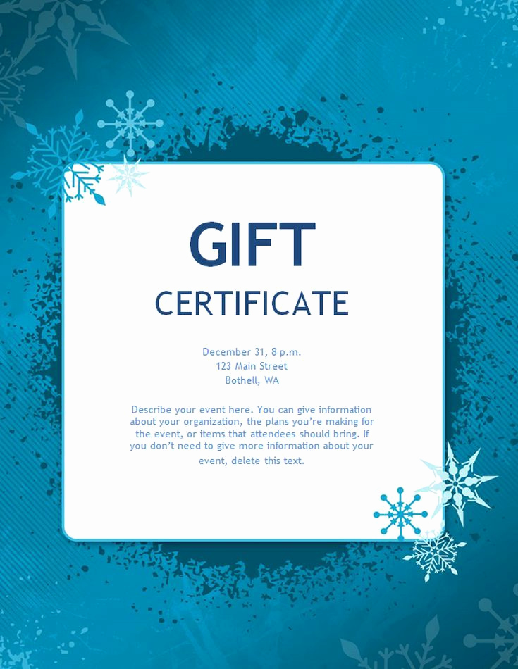 Customizable Gift Certificate Template Fresh Free Gift Certificate Templates You Can Customize