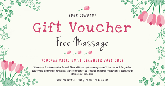 Customizable Gift Certificate Template Fresh Spa Gift Voucher Template