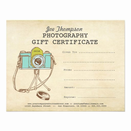 Customizable Gift Certificate Template Lovely Grapher Graphy Gift Certificate Template 11 Cm X