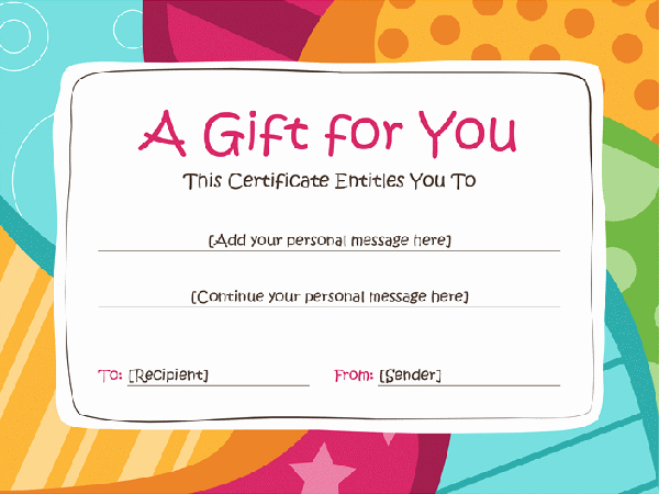 Customizable Gift Certificate Template New 83 Creative Custom Certificate Word Psd Ai Design