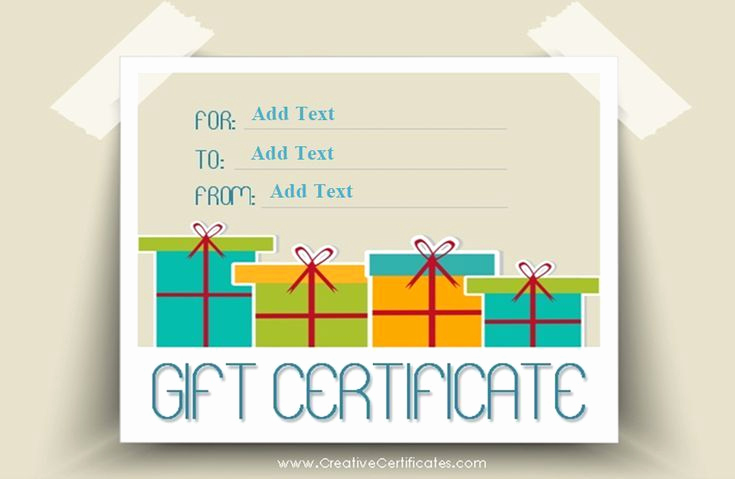 Customizable Gift Certificate Template New Free Gift Certificate Templates You Can Customize
