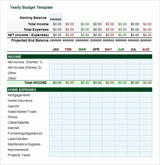 Daily Budget Template Excel Beautiful 5 Year Bud Template