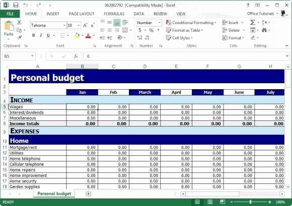 Daily Budget Template Excel Unique Free Personal Bud Planner Template for Excel